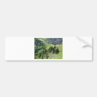 Panoramic mountain view bumper sticker
