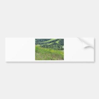 Panoramic mountain view bumper sticker