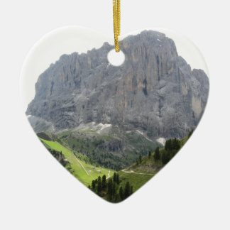 Panoramic mountain view christmas ornament