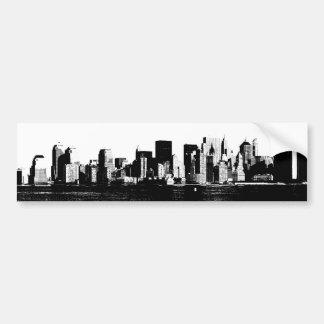 Panoramic New York City Bumper Sticker