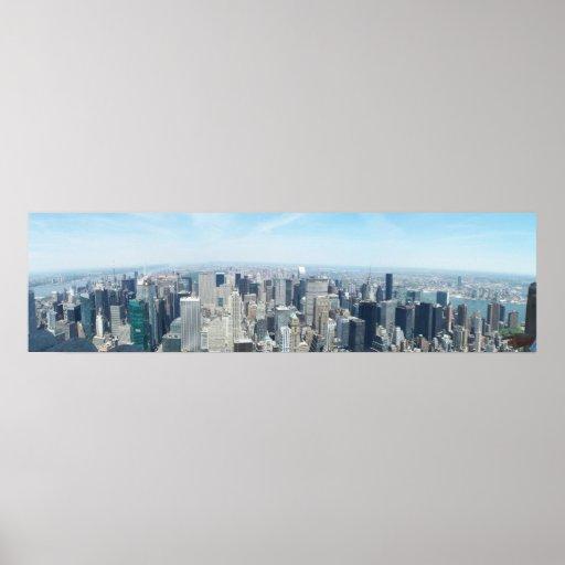 Panoramic NY Poster