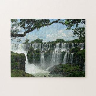 Panoramic Of The Iguazu Falls Jigsaw Puzzle
