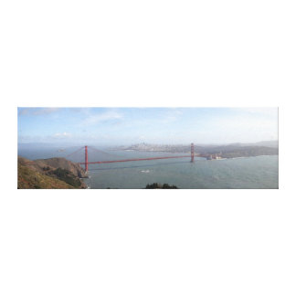 Panoramic Painting of the Golden Gate Bridge Canvas Prints