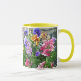 Panoramic Pansies Mug