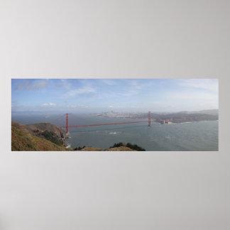 Panoramic poster of Golden Gate Bridge