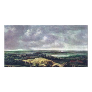 Panoramic River Landscape., Nederlands, Personalised Photo Card