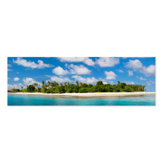 Panoramic seascape pack of skinny business cards