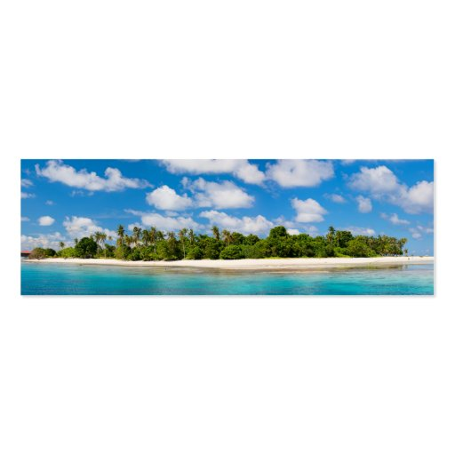 Panoramic seascape business card