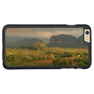 Panoramic valley landscape, Cuba Carved Maple iPhone 6 Plus Case