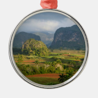 Panoramic valley landscape, Cuba Christmas Ornament