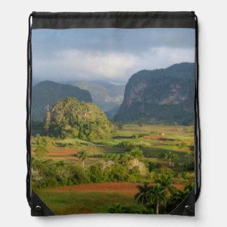 Panoramic valley landscape, Cuba Drawstring Bag