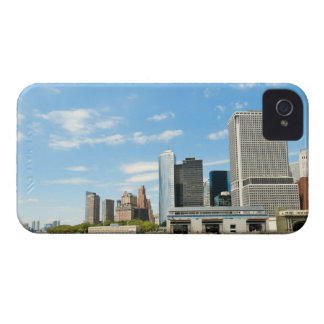 Panoramic view at skyscrapers and Battery park iPhone 4 Case-Mate Case