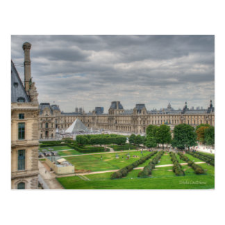 Panoramic View Musee du Louvre Postcard