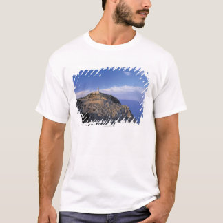 panoramic view of a light house on a cliff T-Shirt