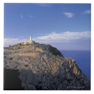 panoramic view of a light house on a cliff tile