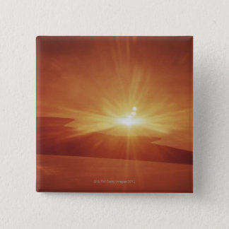 panoramic view of a sunrise 15 cm square badge