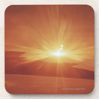 panoramic view of a sunrise drink coasters