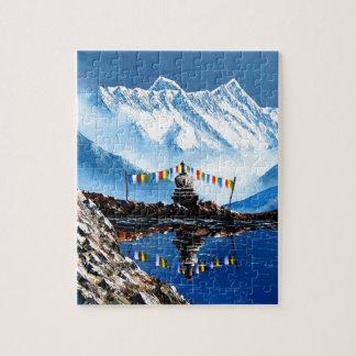 Panoramic View Of Annapurna Mountain Nepal Jigsaw Puzzle