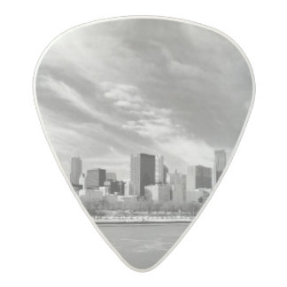 Panoramic view of Chicago skyline in winter Acetal Guitar Pick