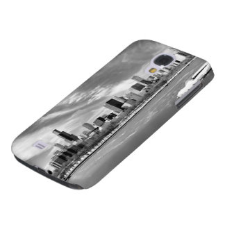 Panoramic view of Chicago skyline in winter Galaxy S4 Case