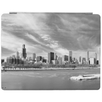 Panoramic view of Chicago skyline in winter iPad Cover