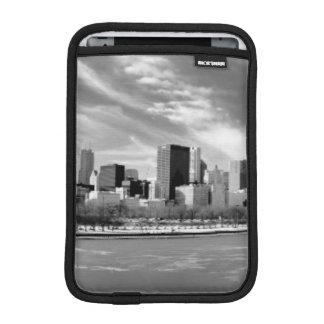 Panoramic view of Chicago skyline in winter iPad Mini Sleeve
