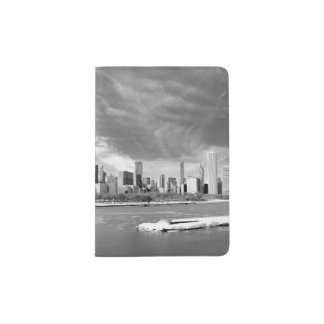 Panoramic view of Chicago skyline in winter Passport Holder