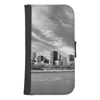 Panoramic view of Chicago skyline in winter Samsung S4 Wallet Case