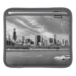 Panoramic view of Chicago skyline in winter Sleeve For iPads