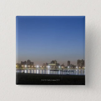 Panoramic view of Chicago's North Avenue Beach 15 Cm Square Badge