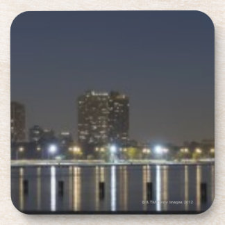 Panoramic view of Chicago's North Avenue Beach 2 Drink Coasters