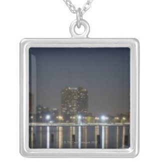 Panoramic view of Chicago's North Avenue Beach 2 Personalized Necklace