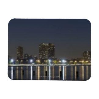 Panoramic view of Chicago's North Avenue Beach 2 Rectangular Photo Magnet