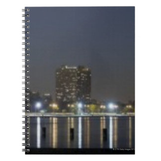 Panoramic view of Chicago's North Avenue Beach 2 Spiral Note Book