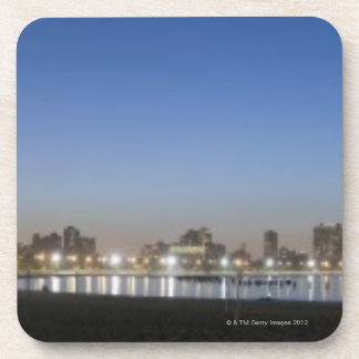 Panoramic view of Chicago's North Avenue Beach Beverage Coaster