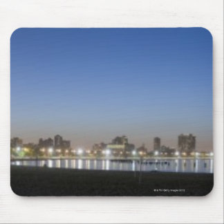 Panoramic view of Chicago's North Avenue Beach Mouse Mat