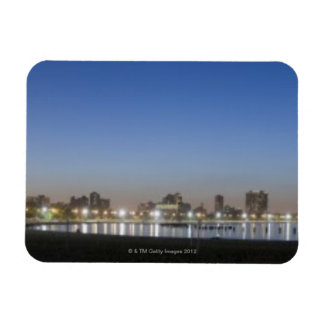 Panoramic view of Chicago's North Avenue Beach Flexible Magnets