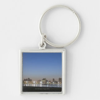 Panoramic view of Chicago's North Avenue Beach Silver-Colored Square Key Ring