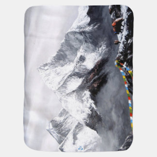 Panoramic View Of Everest Mountain Baby Blanket