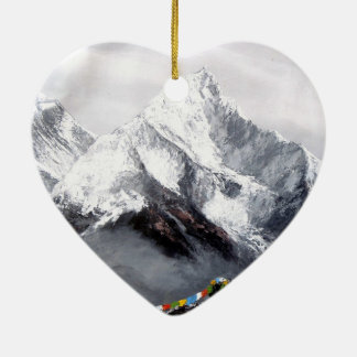 Panoramic View Of Everest Mountain Christmas Ornament