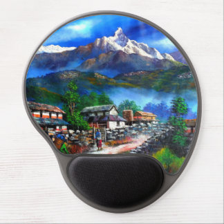 Panoramic View Of Everest Mountain Nepal Gel Mouse Mat