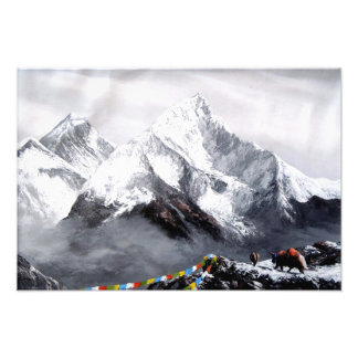 Panoramic View Of Everest Mountain Photo Print