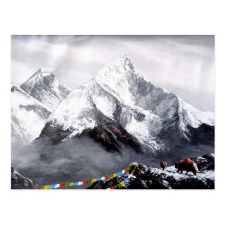 Panoramic View Of Everest Mountain Postcard