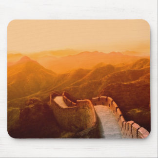 Panoramic view of Great Wall, China Mouse Mat