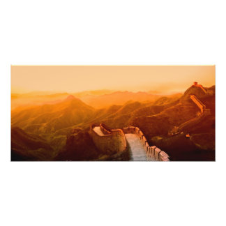 Panoramic view of Great Wall, China Photo Print