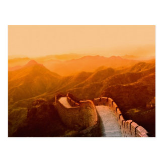 Panoramic view of Great Wall, China Postcard