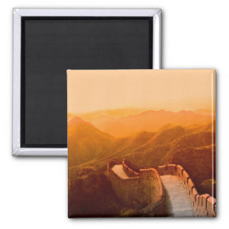 Panoramic view of Great Wall, China Square Magnet