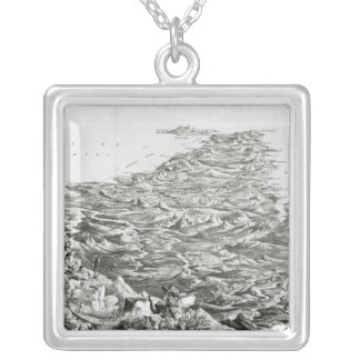 Panoramic view of India Silver Plated Necklace