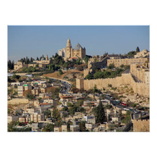 Panoramic View of Jerusalem in Israel Poster