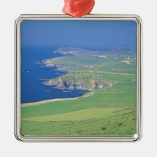 panoramic view of landscape and the sea christmas ornament